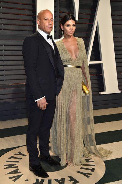 Vin Diesel Paloma Jimenez Vanity Fair Oscar Party Vin Diesel Famous Couples