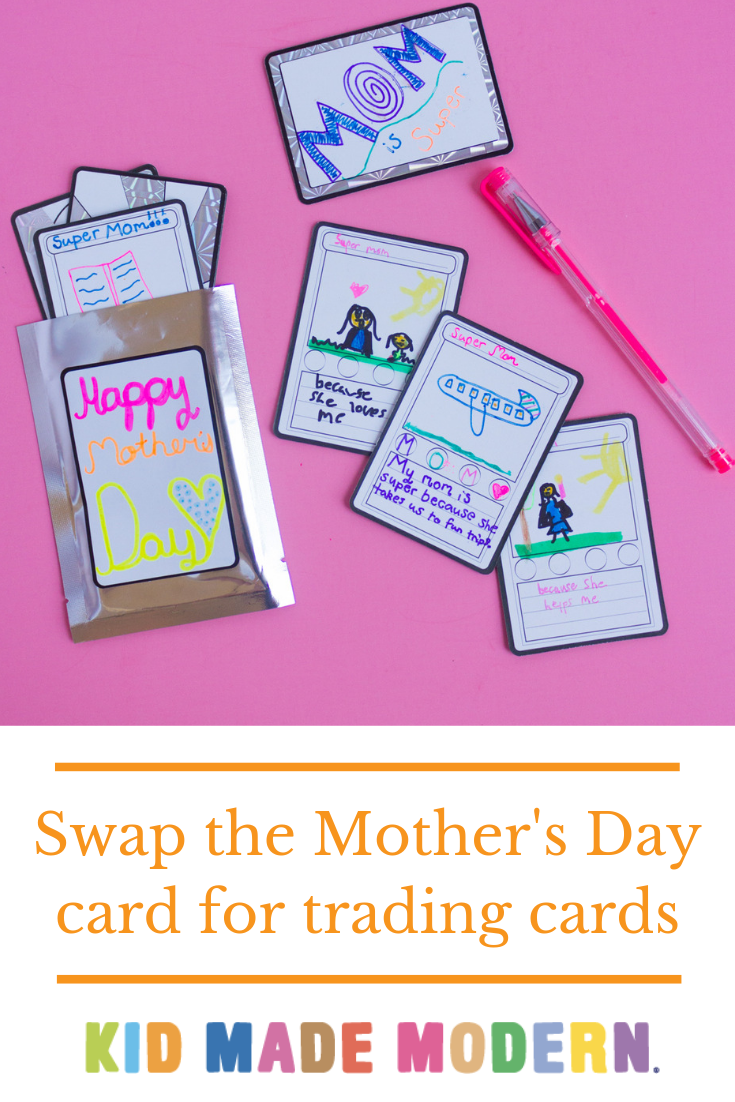 Mother S Day Trading Card Diy In 2021 Diy Gifts For Kids Craft Kits For Kids Craft Projects For Kids