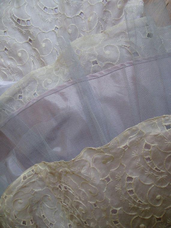 vintage 1950s dress / white nylon by SHESABETTIEboutique on Etsy, $324.00
