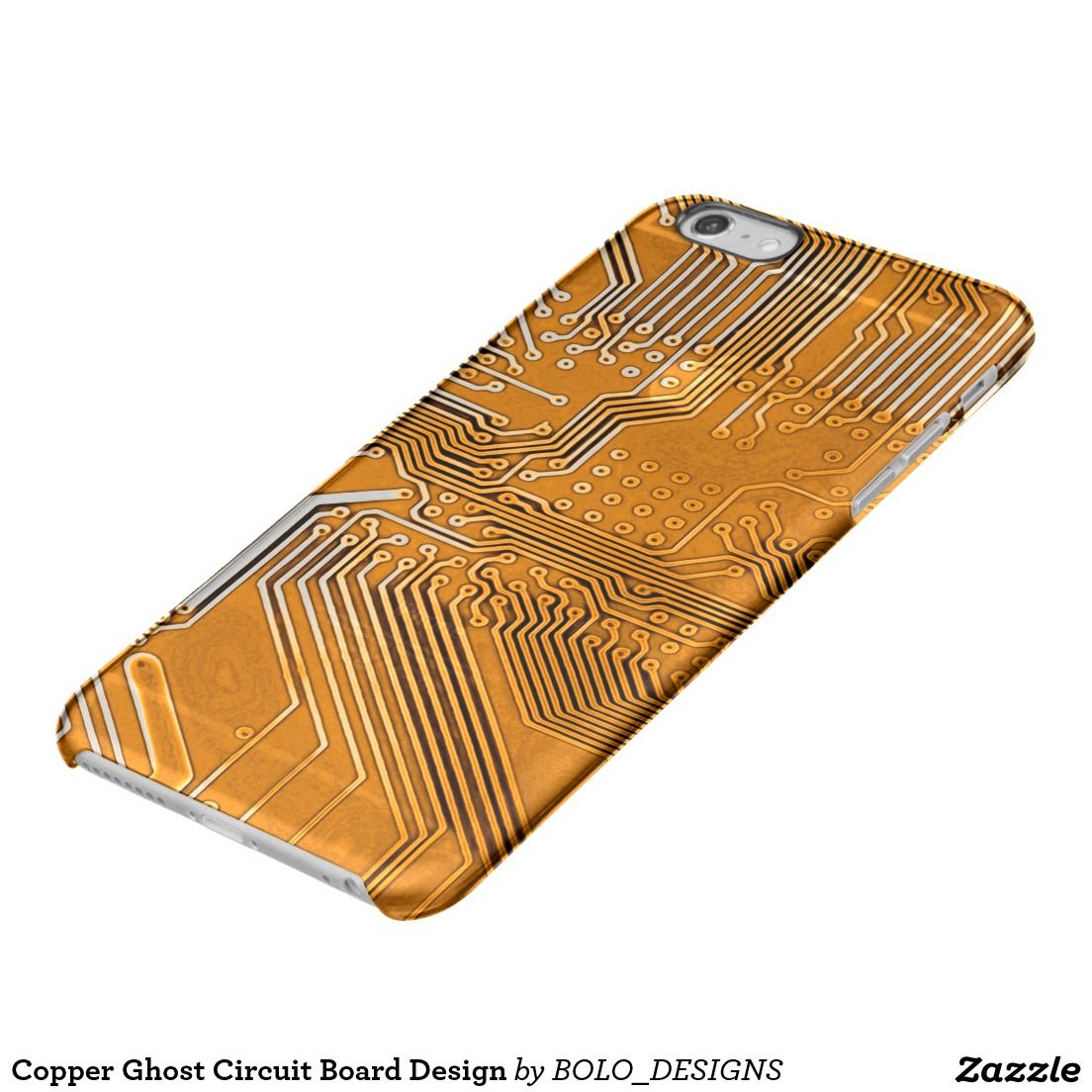 Copper Ghost Circuit Board Design Clear Iphone 6 Plus Case Cell Phone Circuitcell