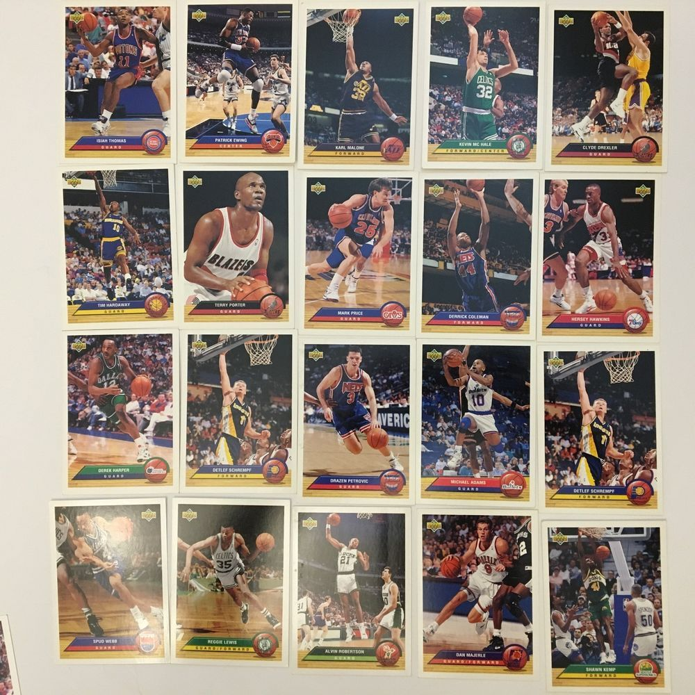 1993 upper deck 20 card set nba mcdonalds fantasy trading