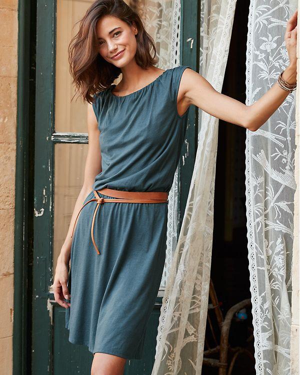 Blouson Boatneck Knit Dress  e976c2010c18