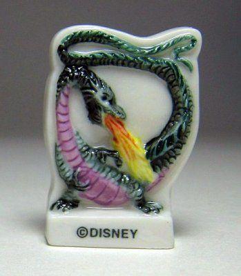Maleficent as Dragon porcelain miniature tile