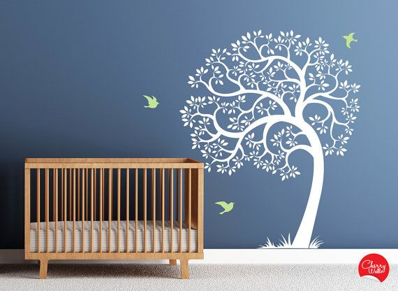 Etonnant Tree Wall Decal AMAZING Tree Removable Vinyl Decal. Nursery Decor Tree Decal  And Birds Wall