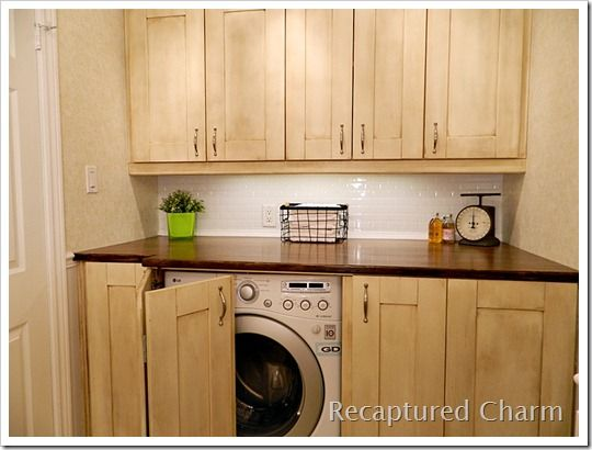 laundry hidden washer dryer hiding the washer dryer before and rh pinterest com