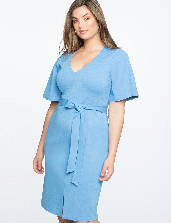 b2b771f5660d Eloquii Flare Sleeve Tie Waist Dress - 20