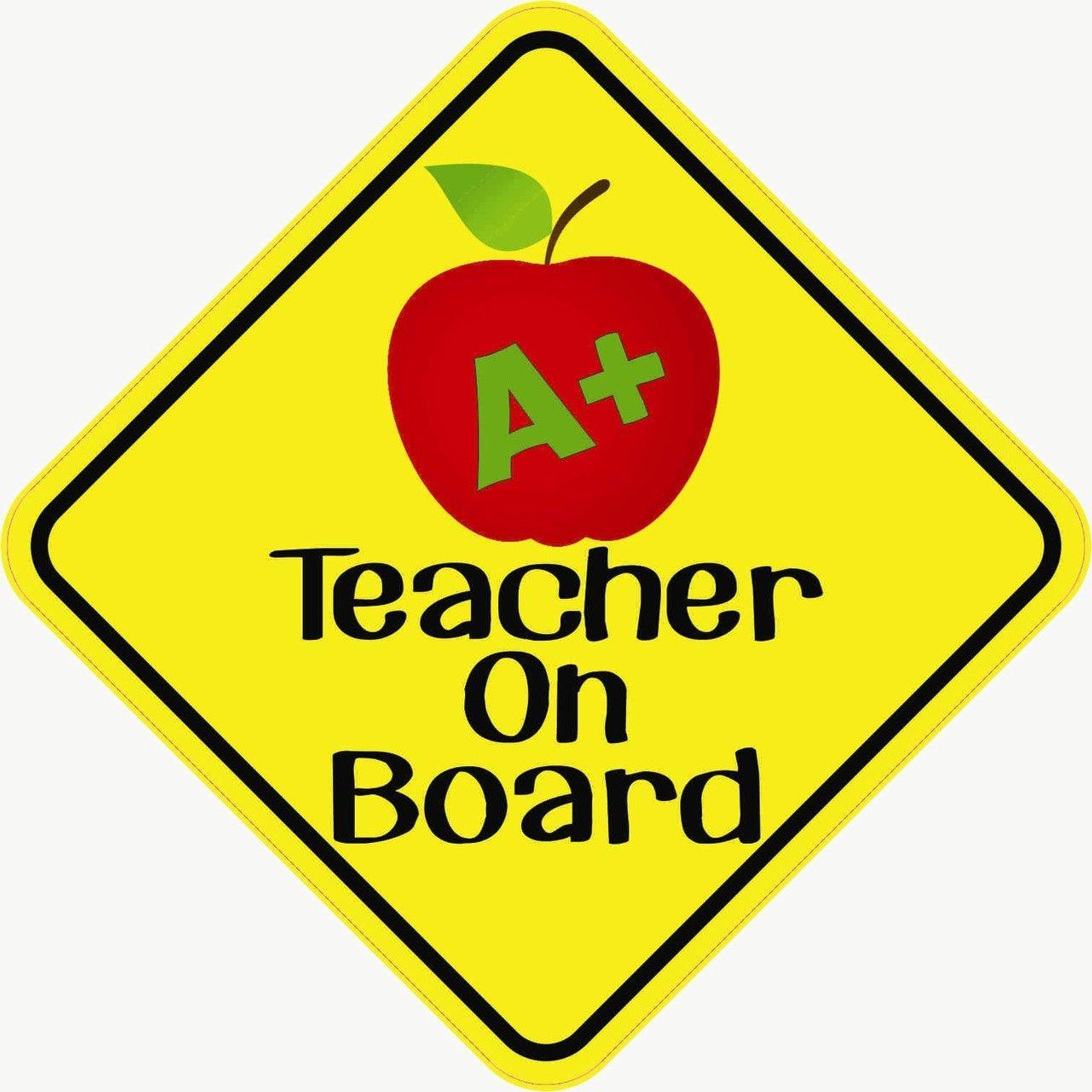 X Teacher On Board Bumper Sticker Decal Window Vinyl - Vinyl decal car signs