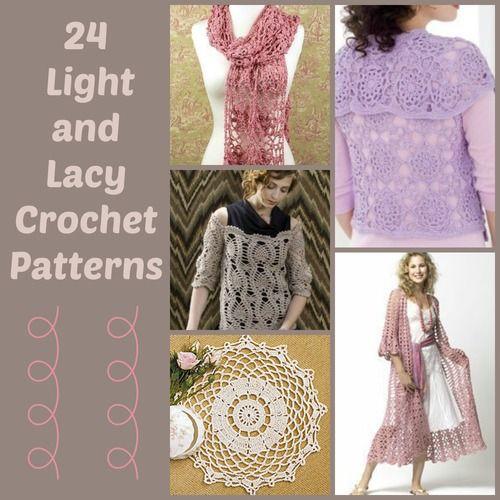 24 light and lacy crochet patterns crochet patterns and free 24 light and lacy crochet patterns dt1010fo