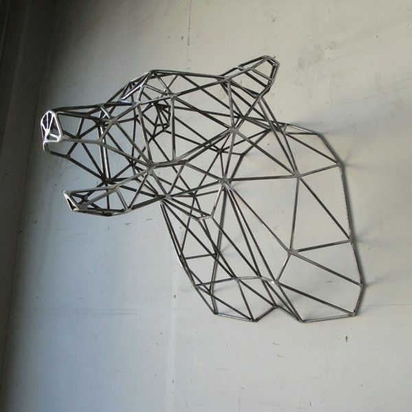 Wire Wall Art geometric wire wall art wall art, wire sculpture, | home