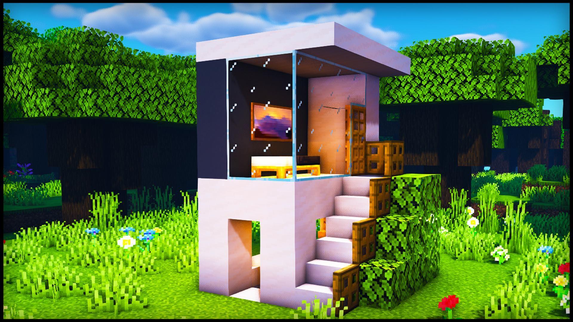 Small Modern House By u/RandomSteveGuyyy | Minecraft small ...
