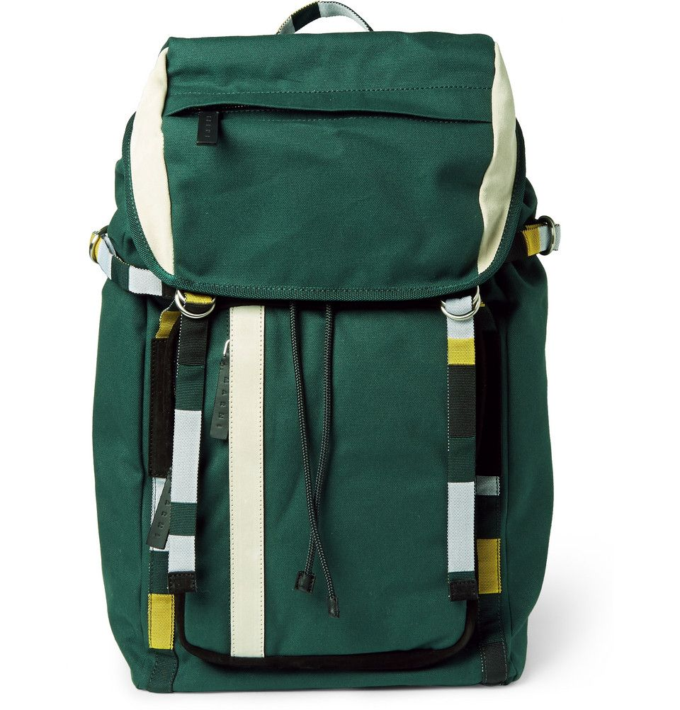 Marni - Suede-Trimmed Canvas Backpack  c80c4e585b281