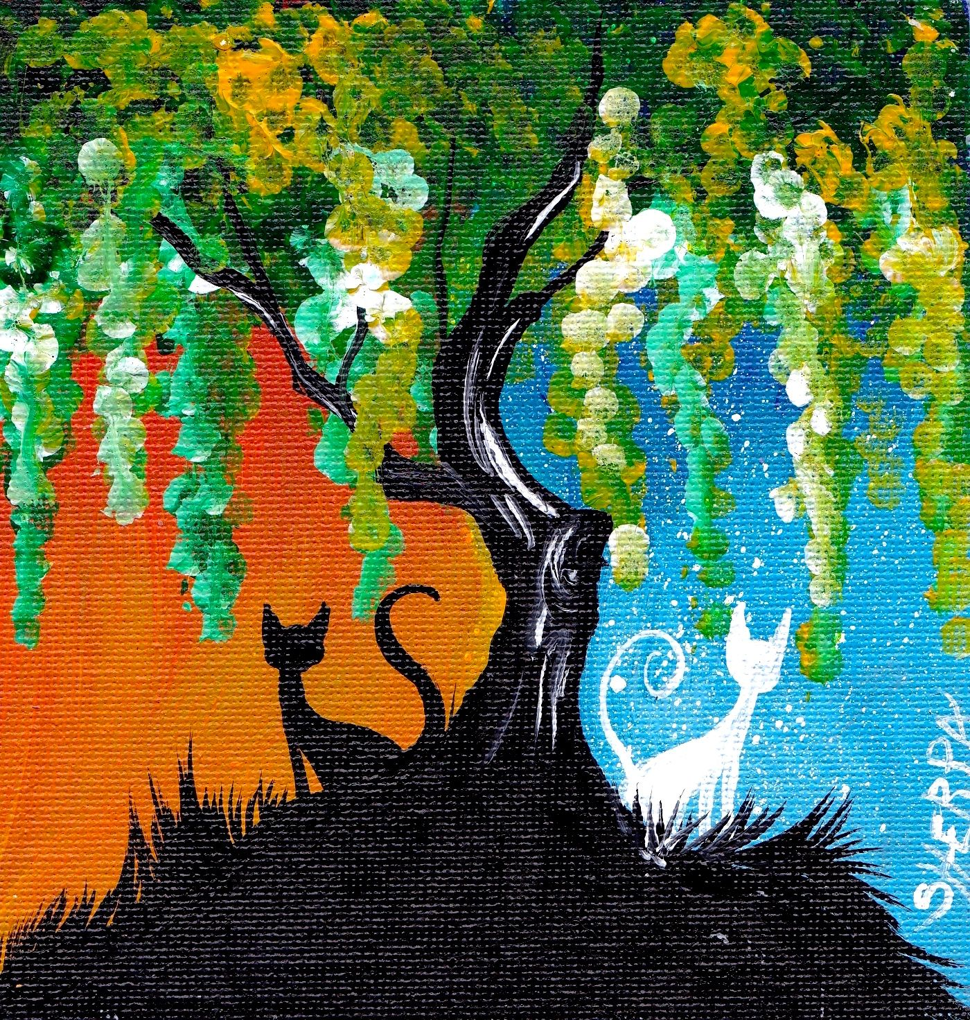 This is a easy step by step acrylic painting for beginners on canvas by The  Art Sherpa. Q-tip ...