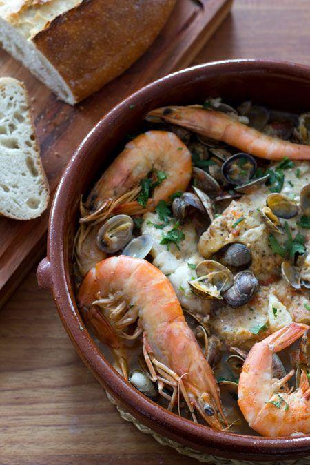 Zarzuela de pescado y marisco pescados y mariscos for Cocinar zarzuela
