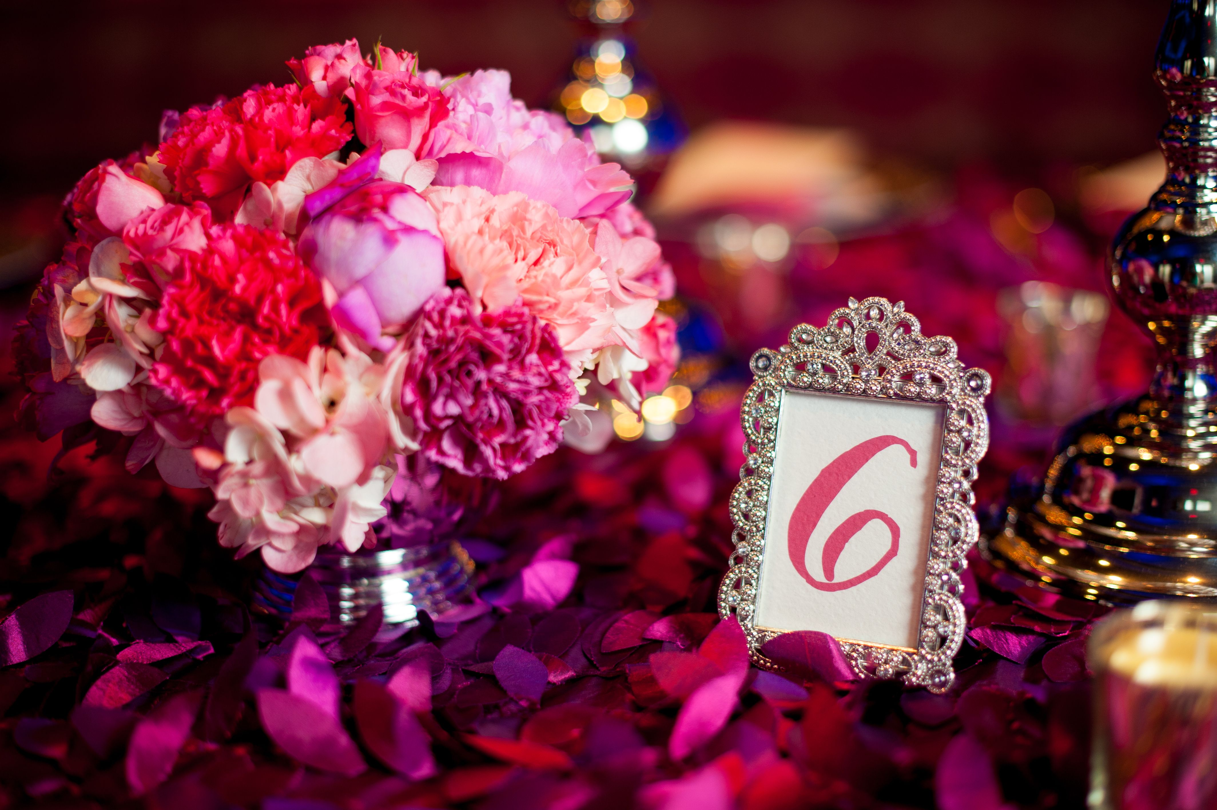 Peony, Carnation and Rose Centerpieces | Wedding Centerpieces ...