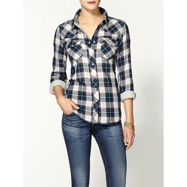 Levi's Annie Western Shirt ($68) ❤ liked on Polyvore