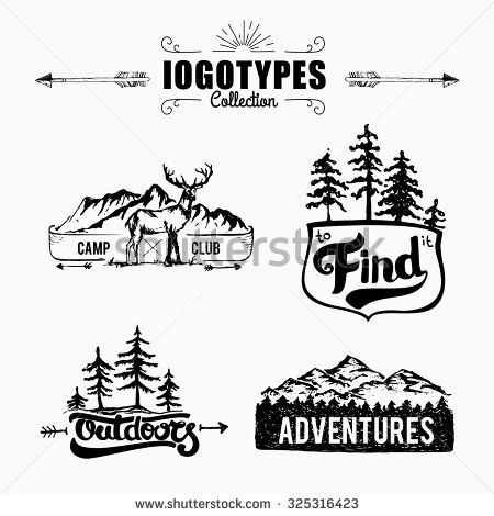logos with trees and mountains  7f863cc6ea95