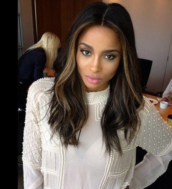Celebrity Hair Changes 2013 Ciara Wears A Longer Dark