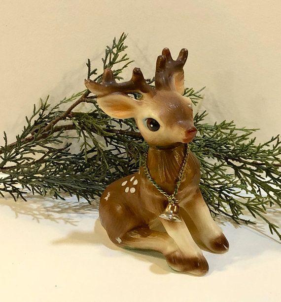 Woodland Animals Reindeer Figurine Sitting