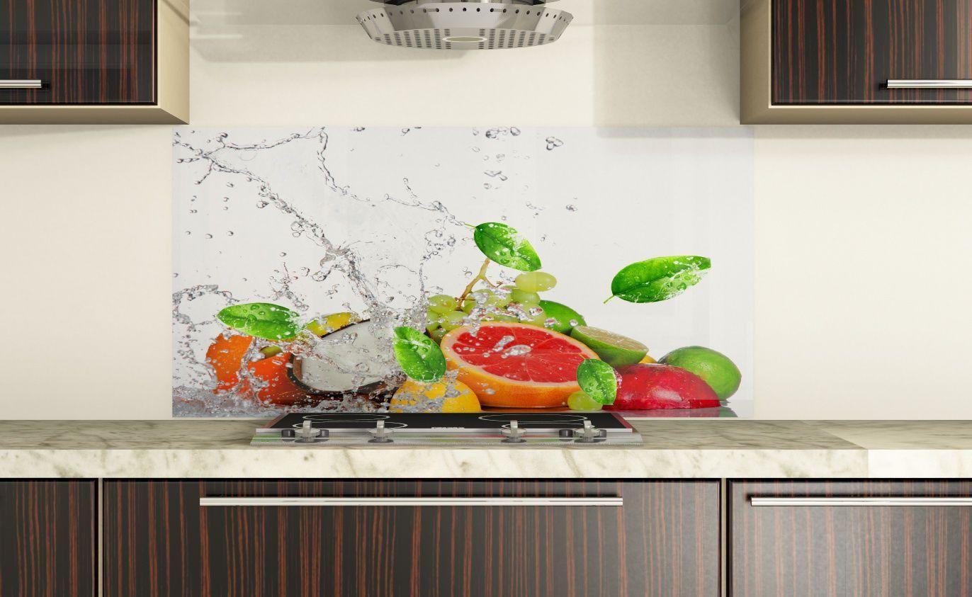 Spritzschutz-Küche nach Maß Frisches Spritzschutz-Küchenglas nach