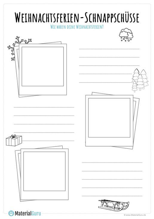 arbeitsblatt weihnachtsferien schnappsch sse schule weihnachts ferien schule und. Black Bedroom Furniture Sets. Home Design Ideas