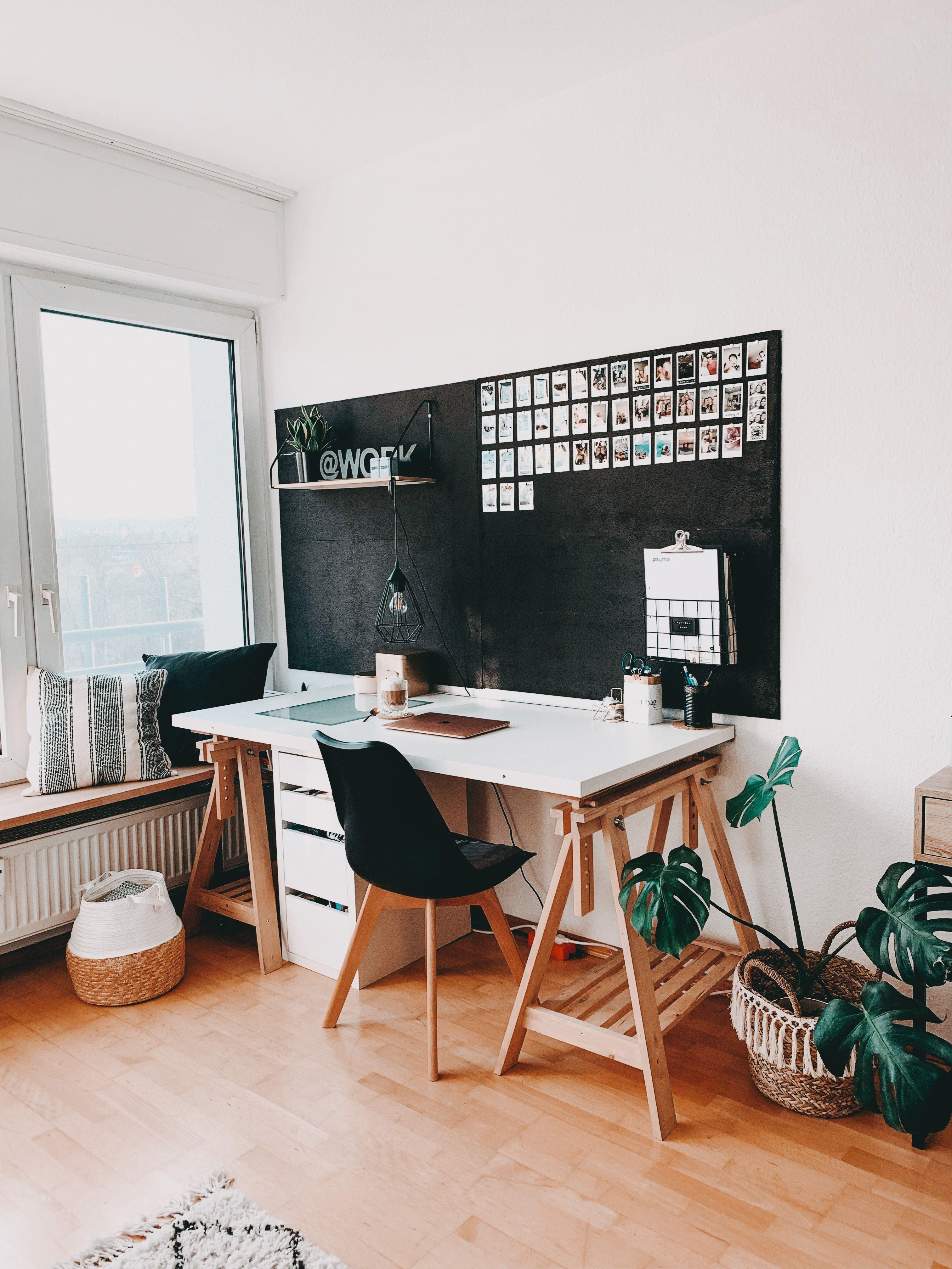 DIY Pinnwand Schreibtisch