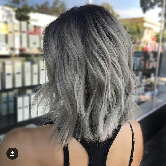 Gris Hairstyles En 2019 Color De Cabello Platinado