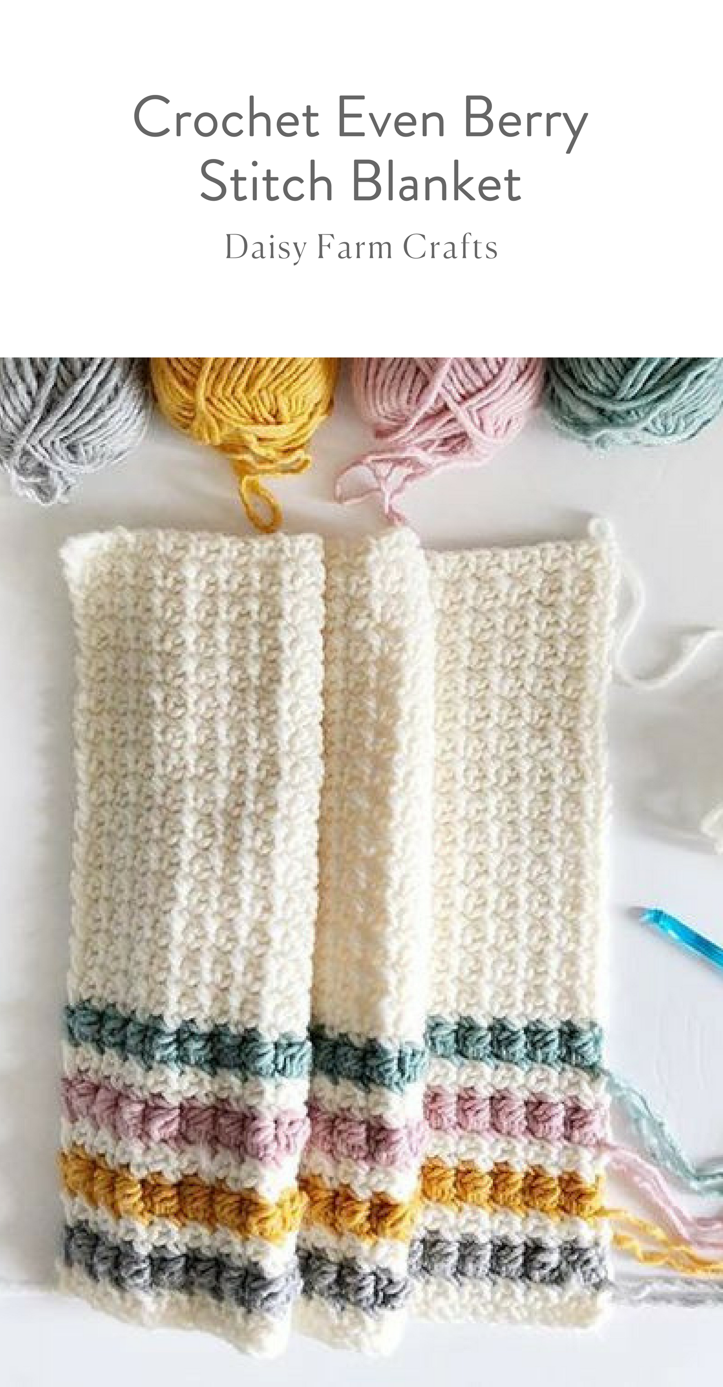 Free Pattern - Crochet Even Berry Stitch Blanket | Afghans ...