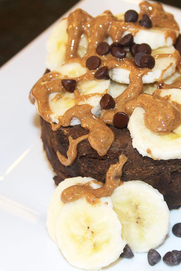 Chocolate Banana Protein Mug Cake #proteinmugcakes