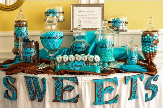 southern blue celebrations blue candy bar buffets party rh pinterest com teal and gold candy buffet teal blue candy buffet