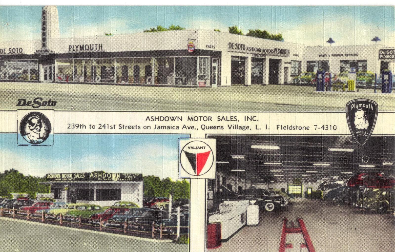 Ashdown Motor Sales Inc Desoto Plymouth Dealership Queens