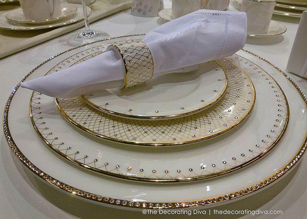 Dinnerware · Prouna\u0027s Princess Fine Bone China ... & Prouna\u0027s Princess Fine Bone China with 24KT Gold Trim and Swarovski ...