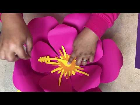 How to Easily Make Paper Flower Template #101-Hibiscus