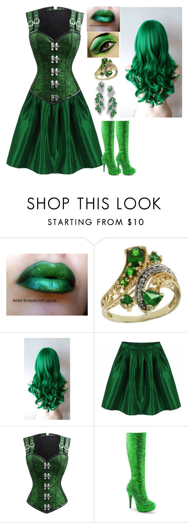 """Seven Deadly Sins: Envy"" by kiara-fleming ❤ liked on Polyvore featuring Michael Valitutti and Funtasma"