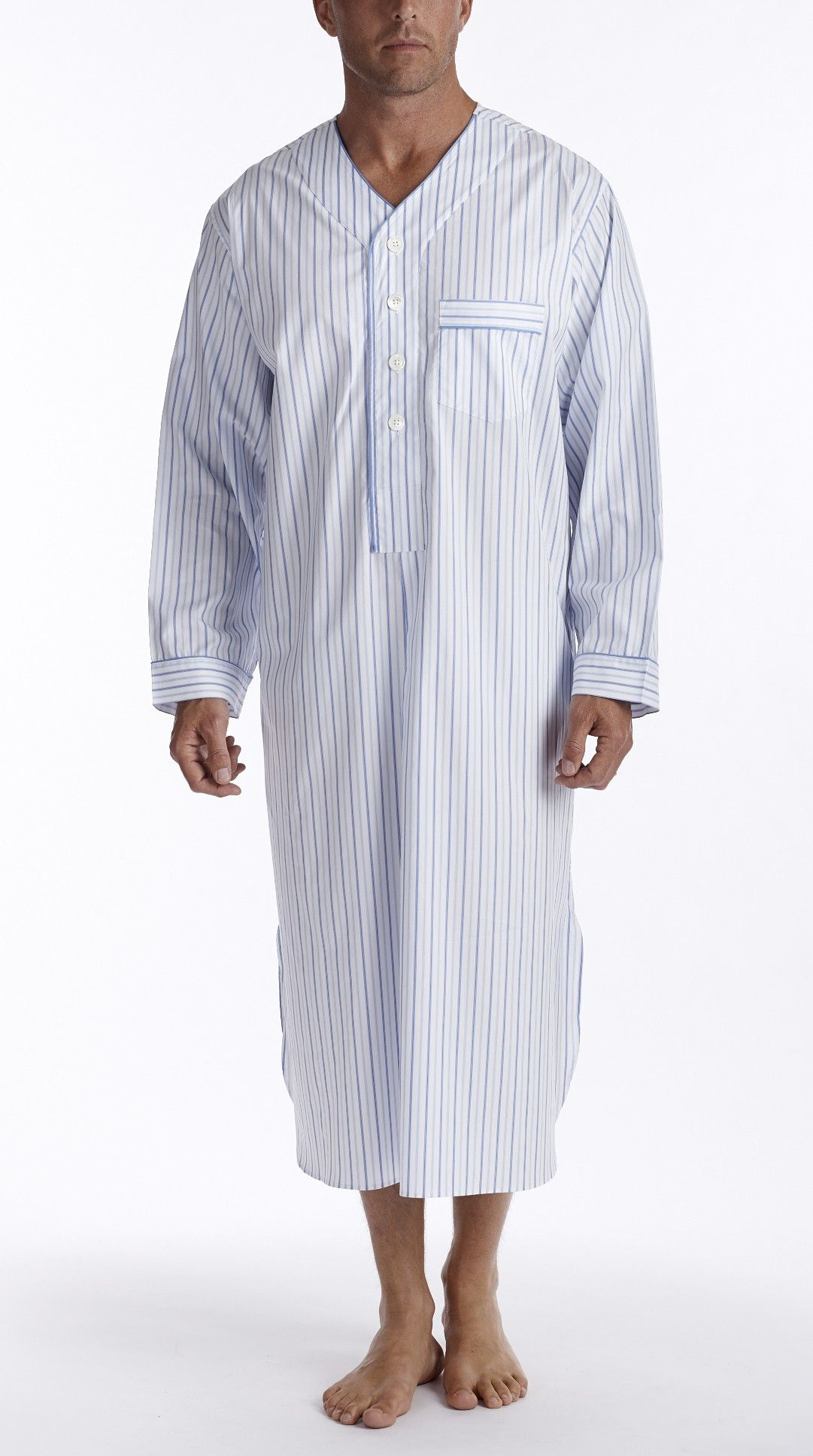 Men 39 s sleepwear nightshirts mid ocean men 39 s nightshirt Long cotton sleep shirts