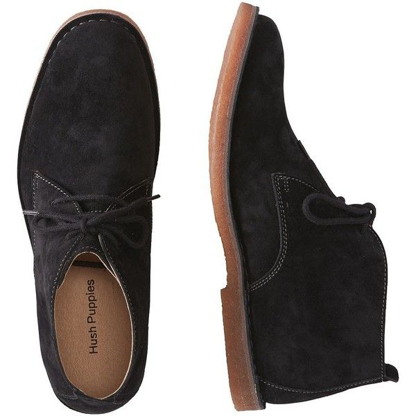 Hush Puppies Desert Ii Boots 99 Liked On Polyvore Featuring Men S Fashion Men S Shoes Men S Boots Black Mens Black B Mens Lace Up Boots Black Boots Men