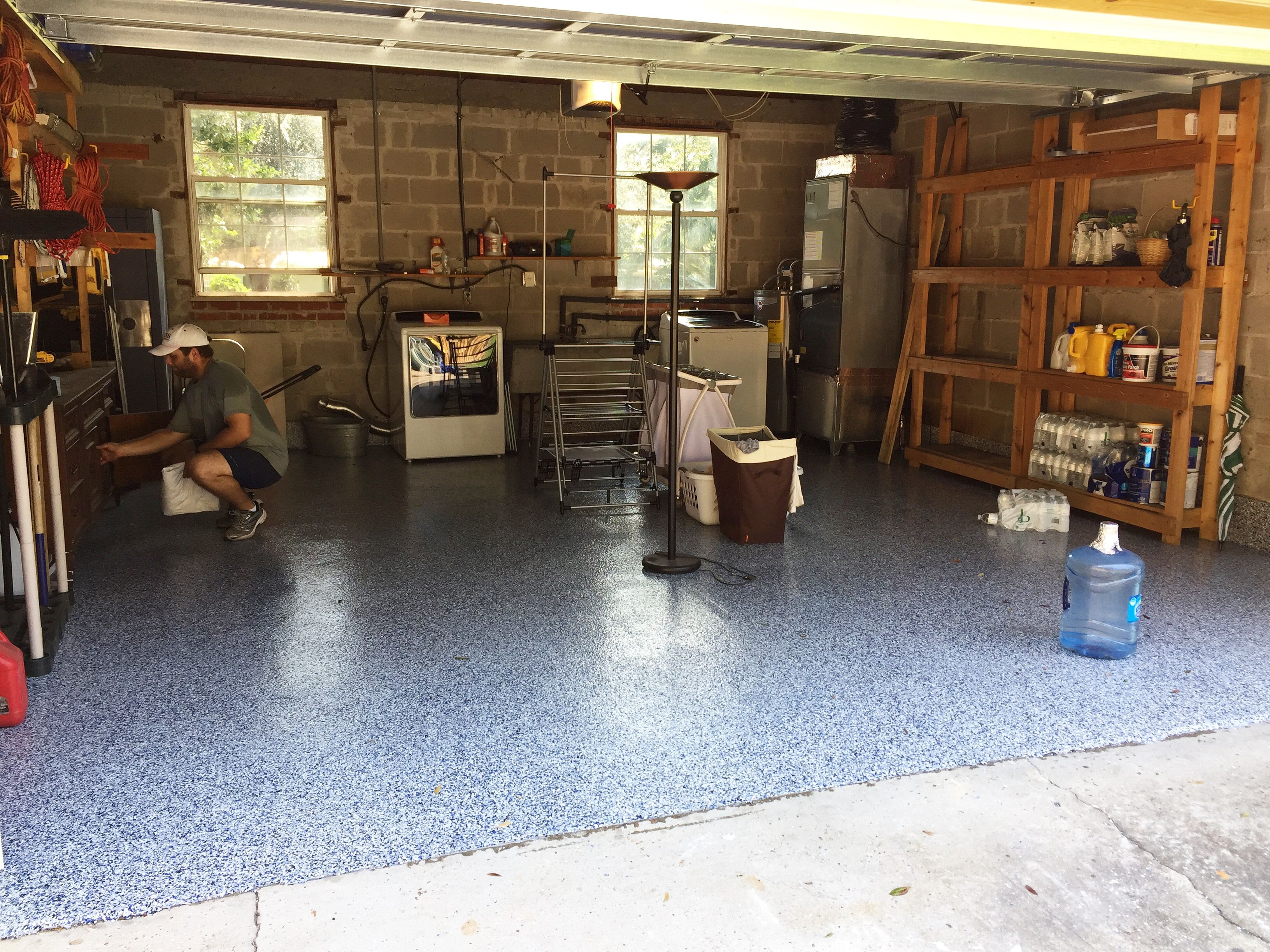 Beautiful garage floor install using EFS epoxy floor