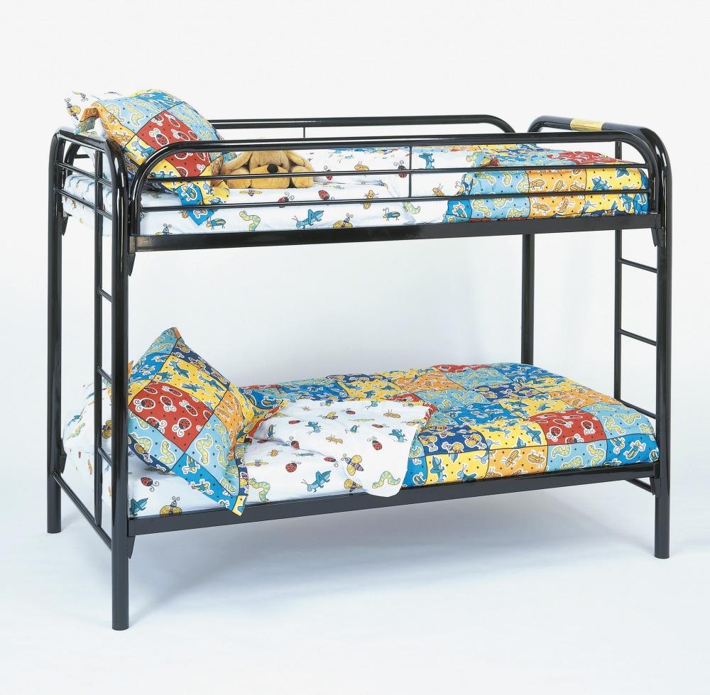 Bunk Bed - Twin / Twin Size / Black Metal. The fun space saving ...