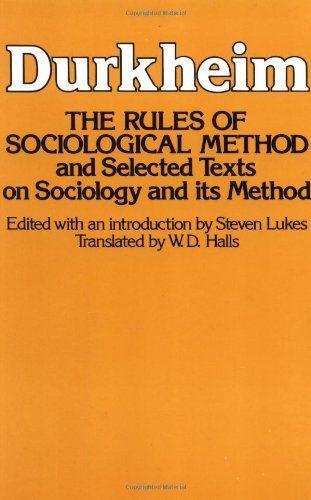 Bestseller Books Online Rules Of Sociological Method Emile