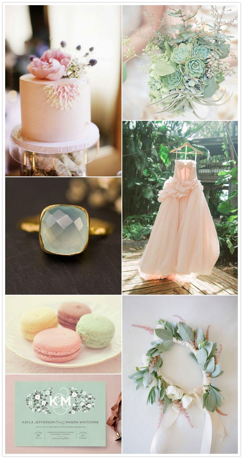Blush Pink And Mint Green Wedding Inspiration