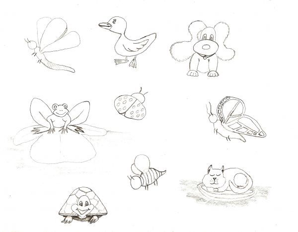 Simple Line Art Animals : How to draw cute animal sketches creative line design