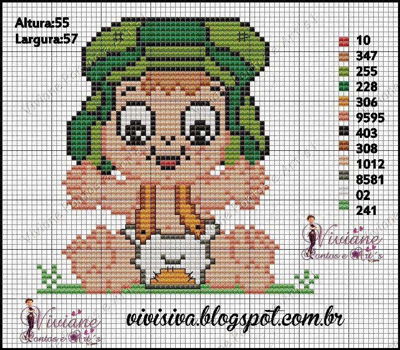 Viviane Pontos e Art\'s: Graficos da Turma do Chaves Baby | Moldes e ...