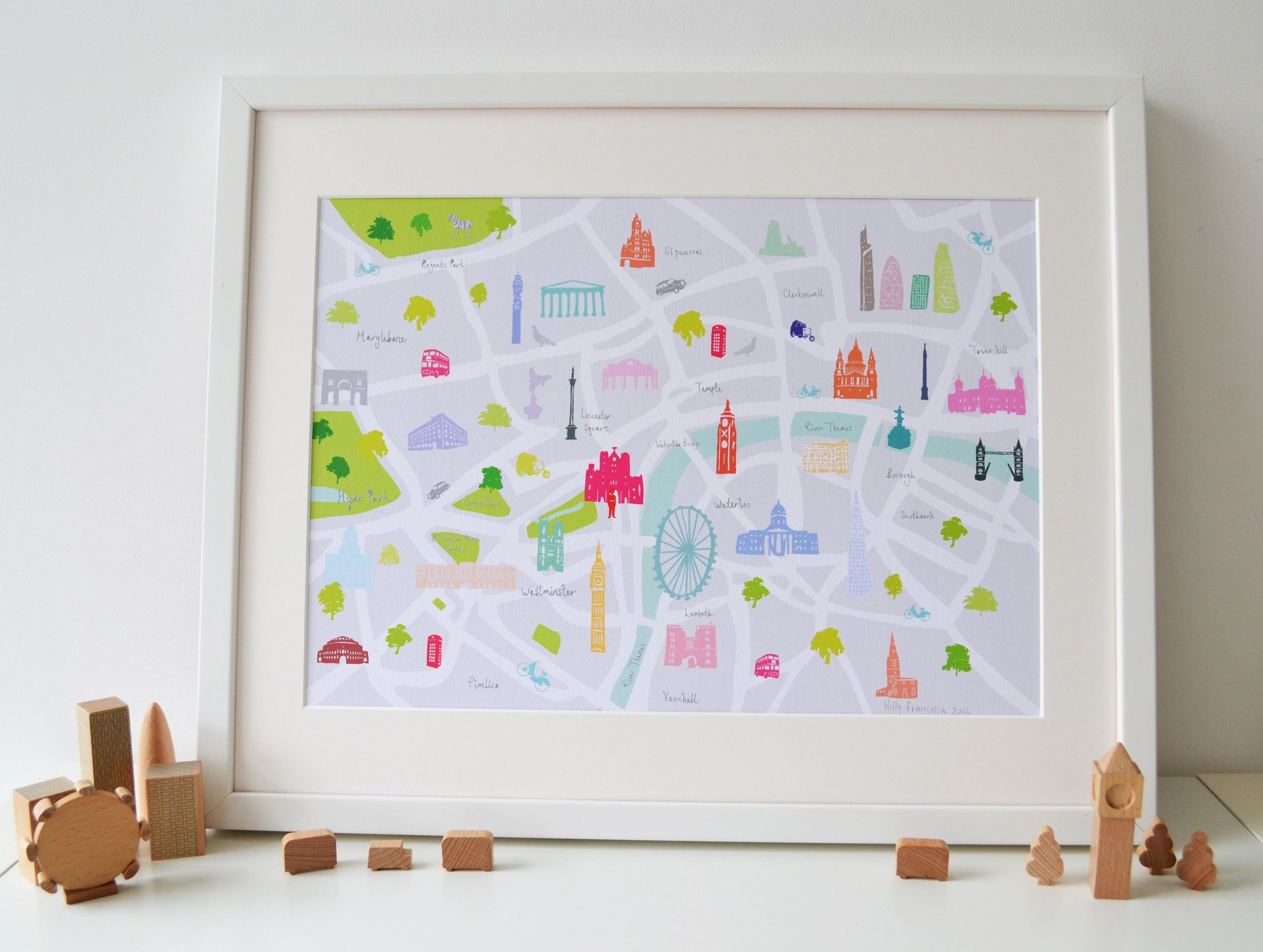 567c780fd41 Holly Francesca - Map of London print