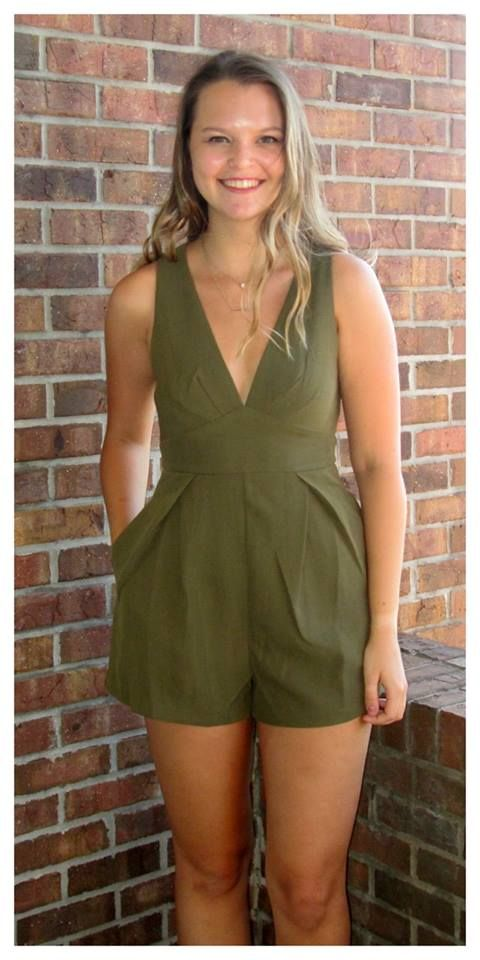 """""""Ashton Romper"""" $64 sizes s-l  Ordering is easy --> 315.565.5586 OR https://secure.jotformpro.com/form/51514909970966 Have questions?? Feel free to ask!!"""