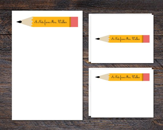 personalized stationery for teachers