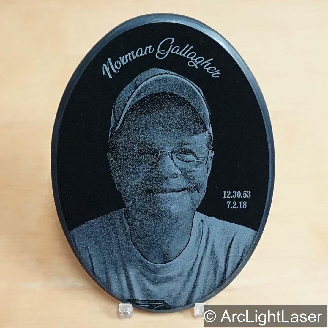 Memorial Photo Plaque Engraved Photograph Laser Engraved Photo On Black Marble Memorial Plaque Photo Engraving Photo Black Marble
