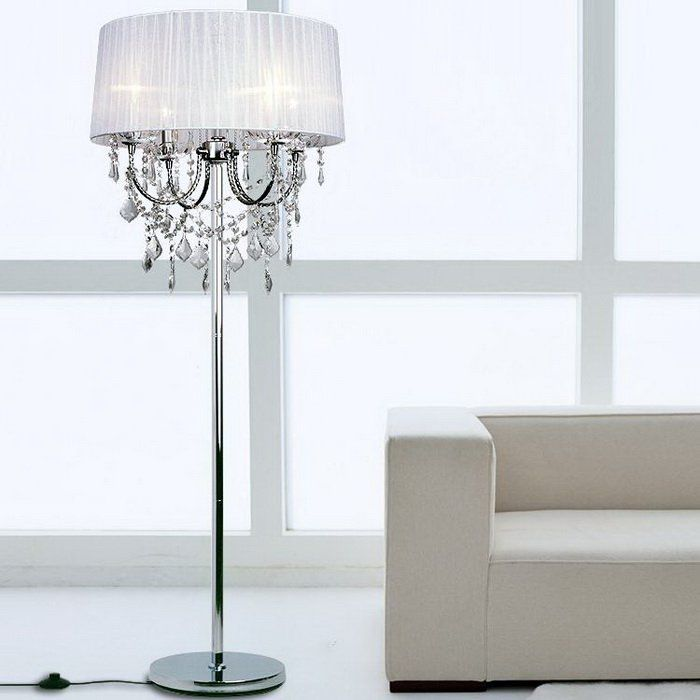 Crystal chandelier floor lamps for the house selecting the best bedroom modern crystal floor lamp idea unique waterford crystal lamps in a bedroom aloadofball
