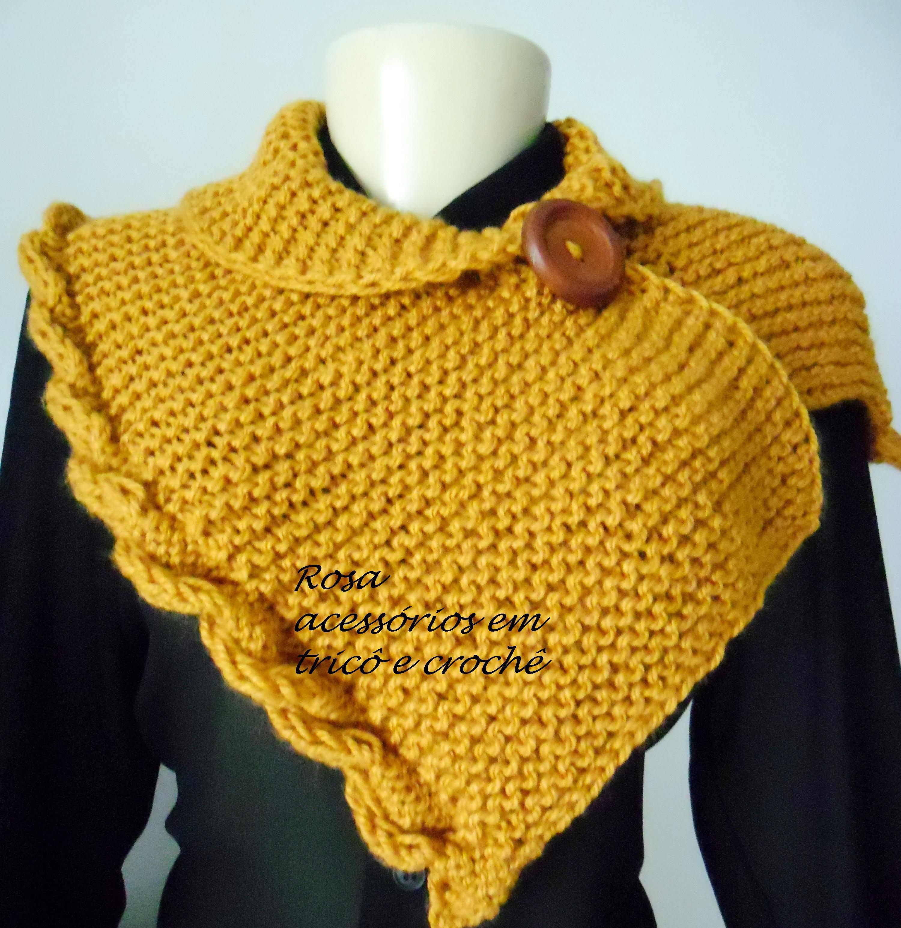 Gola mostarda de tricô - Cowl - knit - knitting by www.rosaacessorios.blogspot.com