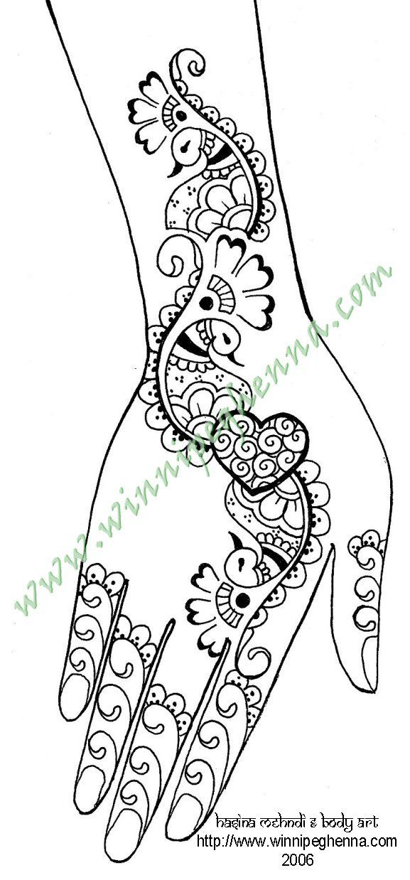 Image detail for -Here are some fun free henna patterns of ...