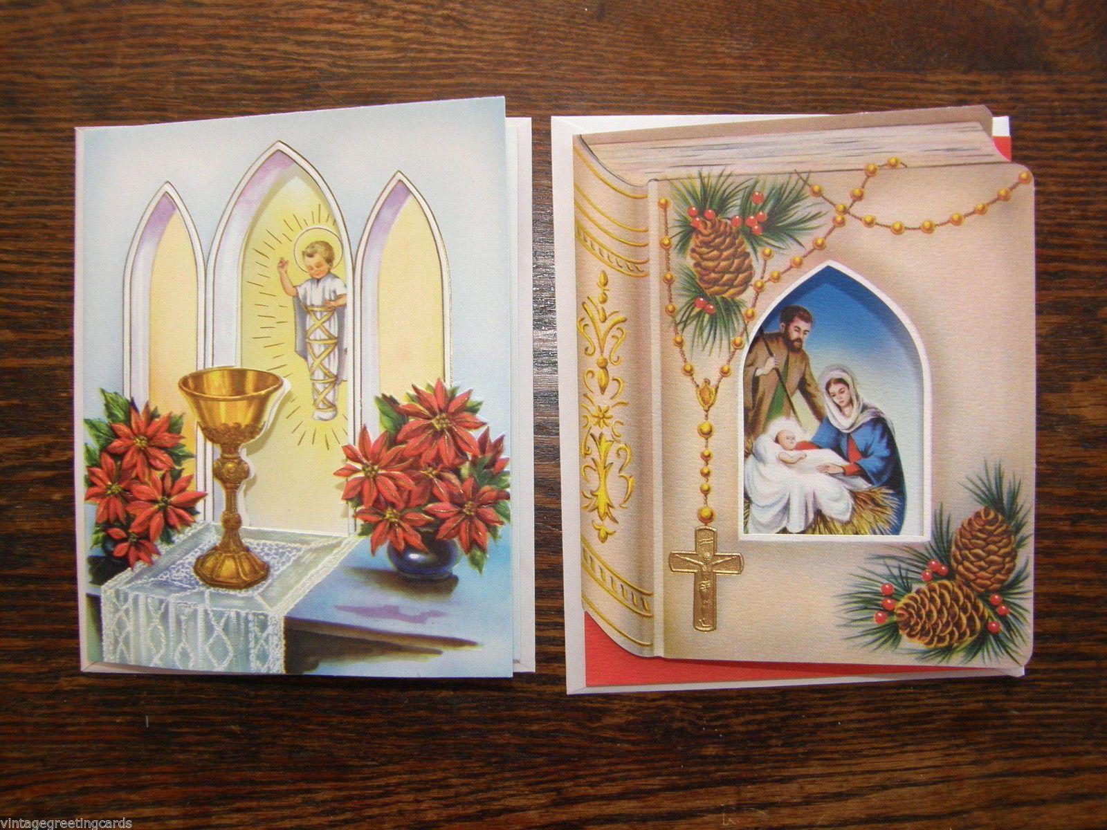 49 Vintage 1950s Religious Christmas Cards Mint Unused Wth Envelopes ...