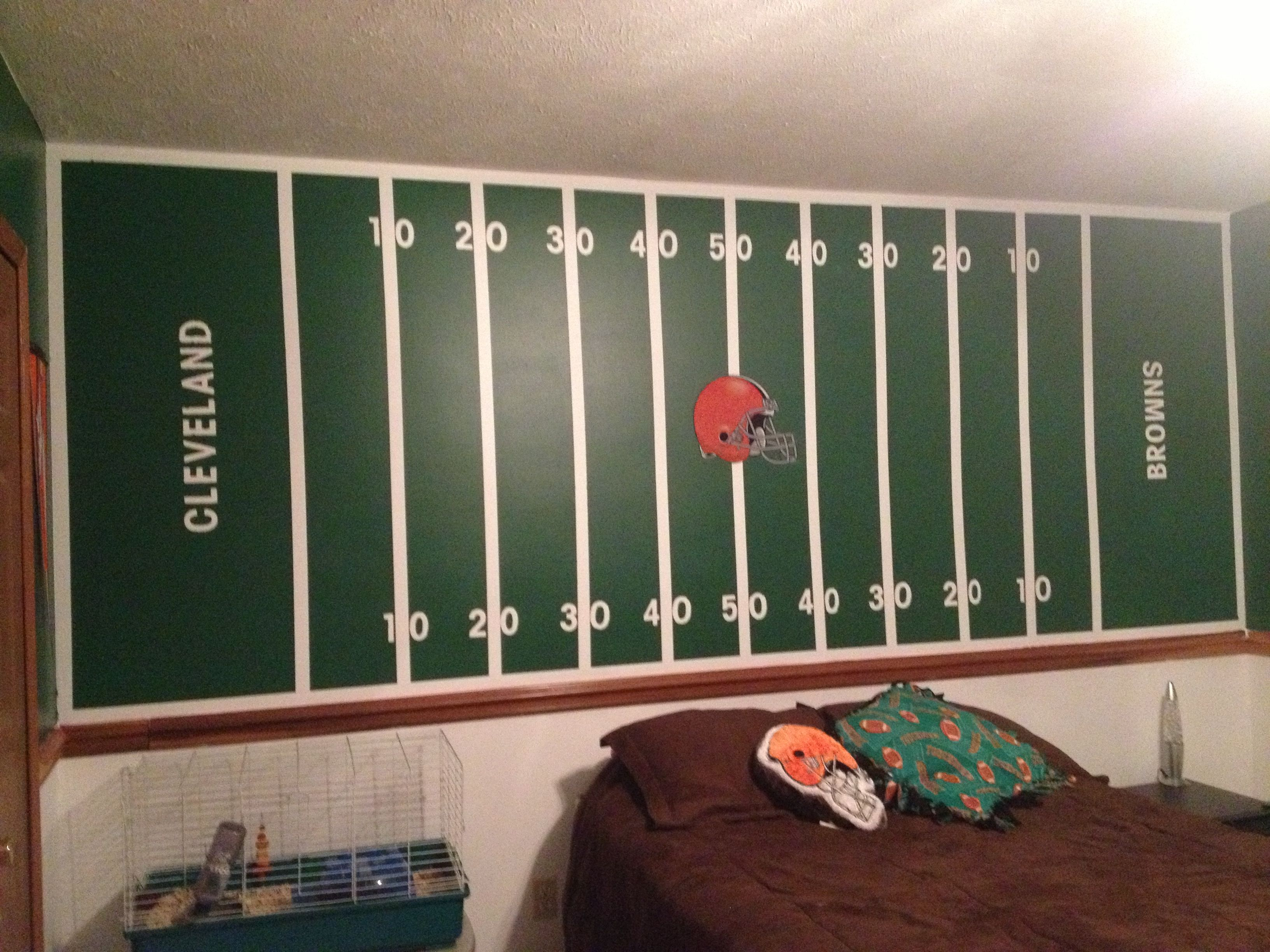 jake s cleveland browns football field wall jake s room and jake s cleveland browns football field wall